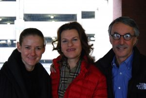 Mary Ann Kirsbaum, Sandra Bernhard and Harry Kirsbaum in Columbus, Ohio,  last year