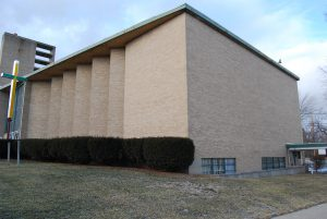 The former Congregation Beth Israel in Flint, now a Baptist church