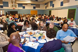 Diners enjoyed traditional Jewish and African American foods.