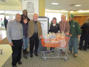 Ron Lockett, executive director and CEO of the Northwest Activity Center; Lisa Corey of Birmingham; Warren Crockett of Detroit; Dr. Melvyn Rubenfire of West Bloomfield; Karen Sherbin of Farmington Hills; Rabbi Josh Bennett of Temple Israel; Andre Peterson of Gleaners