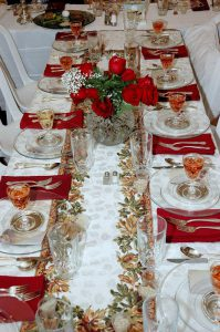 The Liebmans' seder table in 2005