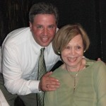 Mike Beck with his mother, Lee Beck