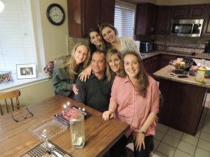 The Gooels of West Bloomfield: (back) Jenna, 21, and Michelle, 19; (front) Lauren, 25, Bruce, Lisa and Stephanie, 24.