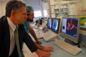 Amitai Rotem in Hadassah Hospital's Interventional Neuro-Radiology Center