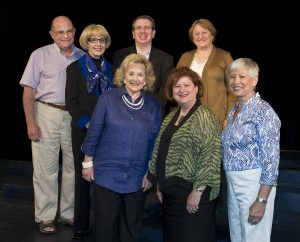 "JET's board of directors: (clockwise from top left) Treasurer Lewis Tann, President Gail Mayer, Immediate Past President Tom August, Vice President Elizabeth ""Betty"" Pernick, Recording Secretary Suzanne Curtis, Vice President Elaine Sturman and Vice President Mary Lou Zieve. Not pictured: Executive Member at Large Dr. Phoebe Mainster."