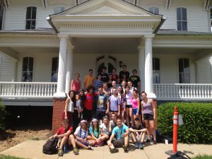 Tikkun Olam campers and staff outside the special-needs, long-term home they helped renovate in Lancaster, Ohio