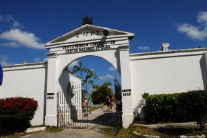 The entrance to the Ashkenazi Cuba cemetery in Guanabacoa, Havana
