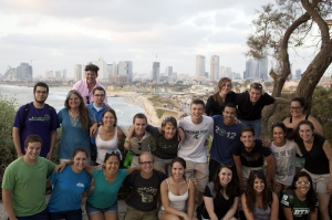 Yael Aronoff, second from let, middle row, and students in Israel this summer