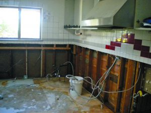 Water damage was so intense that the kitchen at Congregation Bonai Shalom in Boulder had to be gutted.