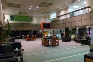 The lobby of the JCC in West Bloomfield