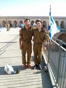 Proud IDF soldiers Yonah Hochhauser and David Gordon