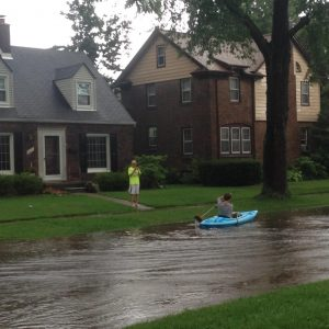 Jodi Fox snapped this photo from her home on Kingston Avenue in Huntington Woods.