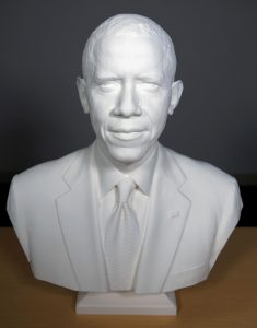 The Smithsonian's National Portrait Gallery includes this 3D-printed bust of President Obama.