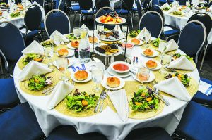 A table setting at last year's Yeshiva Beth Yehudah annual dinner held at the Renaissance Center