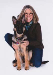 Leader Dog trainer Karen West and Tzeitel