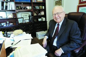 Labor attorney Bruce Miller in his office in Detroit, May 19, 2014.