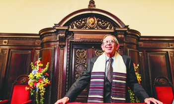Rabbi Daniel Syme has been a rabbi for 44 years — 20 of them at Temple Beth El.  (Photo by Brett Mountain)