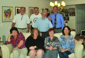 CHAIM board: Top row, Henry Hirsch, David Oliwek, Charles Silow, Jay Kozlowski; bottom row, Eva Kraus, Suzanne Sondheimer, Rosa Chessler, Evelyn Wecker Freeman.