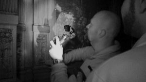 "Jason Hawes find a ""secret panel"" at the Whitney during last week's episode of Ghost Hunters."