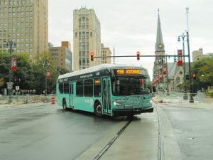 refleX is the first transit route coordinated by RTA. It offers limited-stop service linking Detroit and the suburbs every day of the week. (Photo Credit: Neil Greenberg)