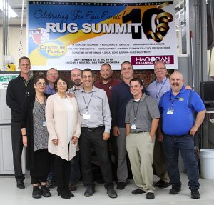 Angela, Hagopian Snow, Suzanne Hagopian and Edmond Hagopian open the Rug Summit with employees and guests