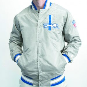 "Exclusive limited-edition Elite Mr. Alan's Detroit Lions ""Thanksgiving"" Starter Jacket, designed by Ty Mopkins, will be available on Saturday, Nov. 19, in stores and at www.mralans.com. $149, sizes from small-4X. Be quick, the last limited-edition jacket celebrating the Red Wings was sold out within hours! For questions, call (313) 387-4000."