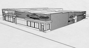 A rendering of the new showroom