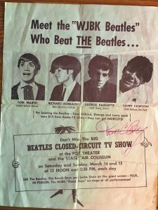 Larry Lawson (as Ringo) won $15 in a Beatles' look-alike contest.