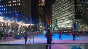The ComePlayDetroit Broomball League at Campus Martius