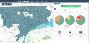 Screen shot of home page from Motor City Mapping