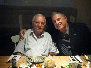 Technion International Board of Governors Chairman Larry Jackier, right, with Maj. Gen. (Res.) Amos Horev
