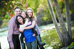 Jason and Marla Golnick with Rayna, 11, and Ariel, 14