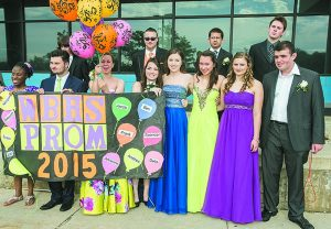 Six couples show their prom spirit before heading off to the Detroit Yacht Club on Belle Isle for the big dance.