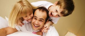 dad with kids